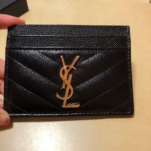 YSL cardholder black Used
